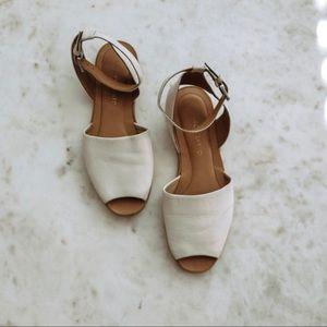 Franco Sarto White Vonda Sandal